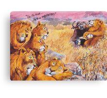 vegetarian lion Canvas Print