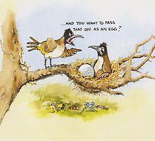 Pass that off as an egg? by RoseRigden