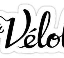 La Velolita (horizontal text logo) Sticker