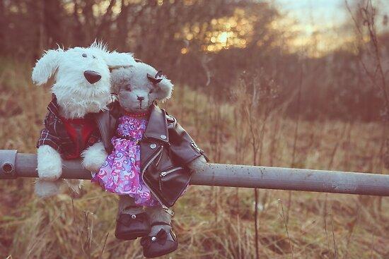 Romantic walk by twinnieE