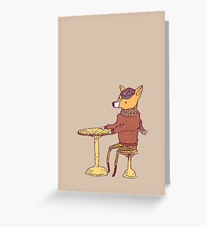 Table For One Greeting Card