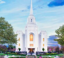 Brigham City Temple - Tabernacle Flowers 32x16 Sticker