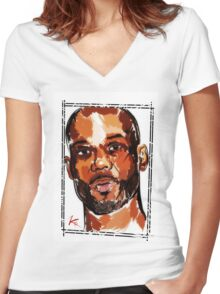 DMX  Women's Fitted V-Neck T-Shirt