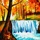 WATERFALL by Leonid  Afremov