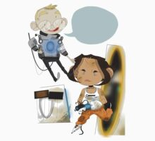Chell and Wheatley by Myth Fields
