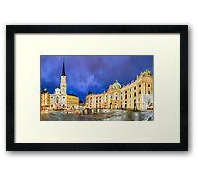 Michaelerplatz in Vienna, Austria Framed Print