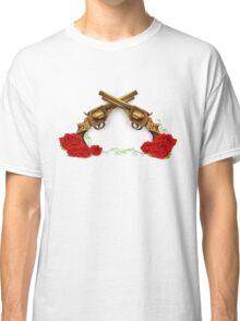 Gun With Roses Classic T-Shirt