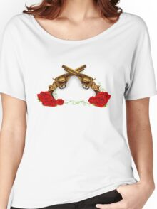 Gun With Roses Women's Relaxed Fit T-Shirt
