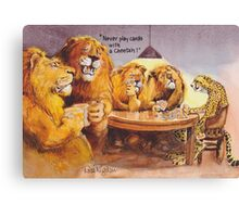 Poker advice Canvas Print