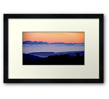 The Suisse Alps and the French Alps seen from the Black Forest near our home Framed Print