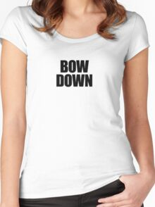 They Live - Bow Down Women's Fitted Scoop T-Shirt