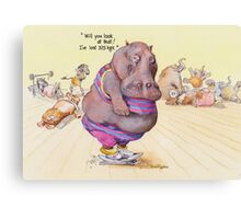 I've lost 375 Kgs! Canvas Print