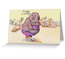 I've lost 375 Kgs! Greeting Card