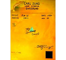 Bill W Rx from Carl Jung Photographic Print