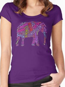 Vegan Elephant Women's Fitted Scoop T-Shirt