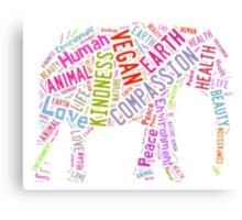 Vegan Elephant Canvas Print