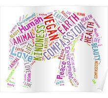 Vegan Elephant Poster