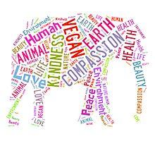 Vegan Elephant Photographic Print