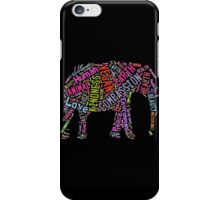 Vegan Elephant iPhone Case/Skin