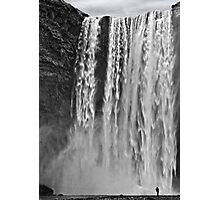 Standing under Skogafoss Photographic Print