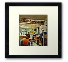 Cafe: Home of the Hidden Cat: AKA Mickey Lu's Framed Print