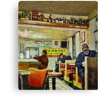 Cafe: Home of the Hidden Cat: AKA Mickey Lu's Canvas Print