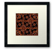 Refined Wood Decorative Pattern Framed Print