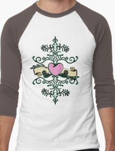 Heart Vine Men's Baseball ¾ T-Shirt