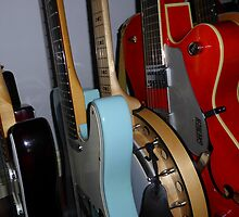 Guitars With Banjo by Fara
