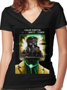 I WANT YOUR PANTS Women's Fitted V-Neck T-Shirt