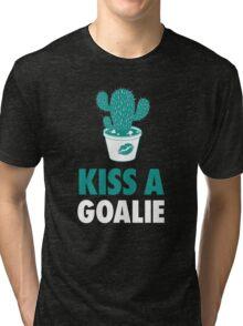 Kiss A Goalie Tri-blend T-Shirt