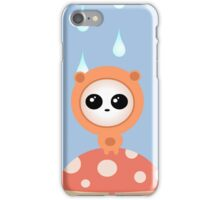 Orange Monsters in the rain by Aglaia Mortcheva iPhone Case/Skin