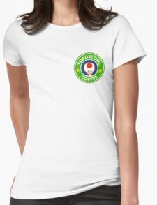 Toadstool Coffee - Themed Womens Fitted T-Shirt