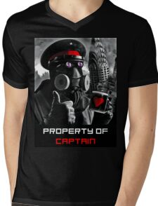PROPERTY OF CAPTAIN Mens V-Neck T-Shirt