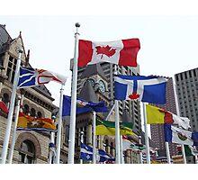 Flags at Toronto City Hall Photographic Print