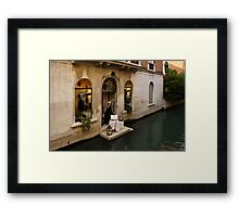Shopping for a Black Dress in Venice, Italy Framed Print