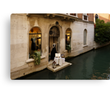 Shopping for a Black Dress in Venice, Italy Canvas Print