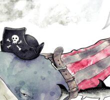 Pirate Whale Sticker