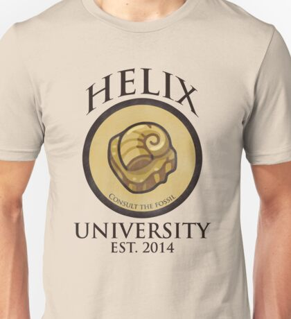 Helix University - Consult the fossil for good grades Unisex T-Shirt