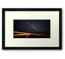 Milky Way and a Speeding Car Framed Print