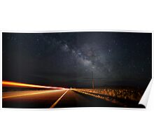 Milky Way and a Speeding Car Poster
