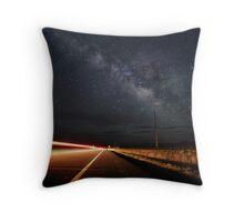 Milky Way and a Speeding Car Throw Pillow