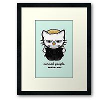 American Horror Kitty Framed Print