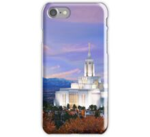 Draper Temple at Sunset 20x16 iPhone Case/Skin
