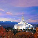Draper Temple at Sunset 20x16 by Ken Fortie