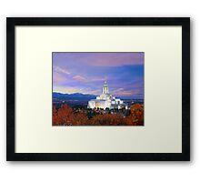 Draper Temple at Sunset 20x16 Framed Print