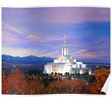 Draper Temple at Sunset 20x16 Poster