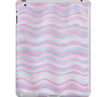 Pink And Blue Stripes Rose Quartz And Serenity Hand Drawn Pattern iPad Case/Skin