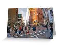 Market Street Evening Rush Hour Greeting Card