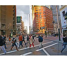 Market Street Evening Rush Hour Photographic Print